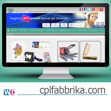 Creazione shop online serigrafia