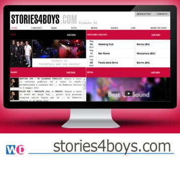 sito web per gruppo musicale a Brescia - WordPress
