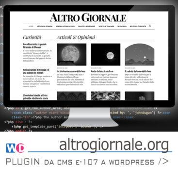 sviluppo plugin e107 WordPress per migrazione